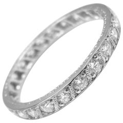 Vintage Tiffany & Co. Diamond Eternity Wedding Platinum Band Ring