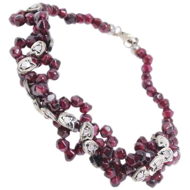 Luise Garnet and Diamond Bracelet