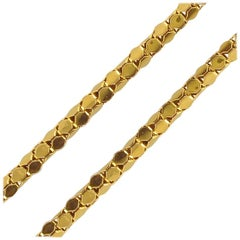 French 1960s 18 Carat Yellow Gold Chain Necklace