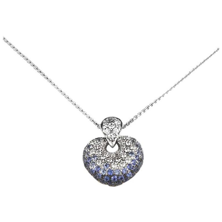 f6c7e9915491 Leo Pizzo White Gold Sapphire and Diamond Pendant at 1stdibs