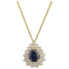 Tiffany & Co. Sapphire and Diamond Pendant