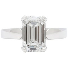 Incredible 2.74 Carat GIA E/VS1 Emerald Cut Diamond Platinum Ring