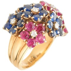 Van Cleef & Arpels Retro 1940s Flower Ring