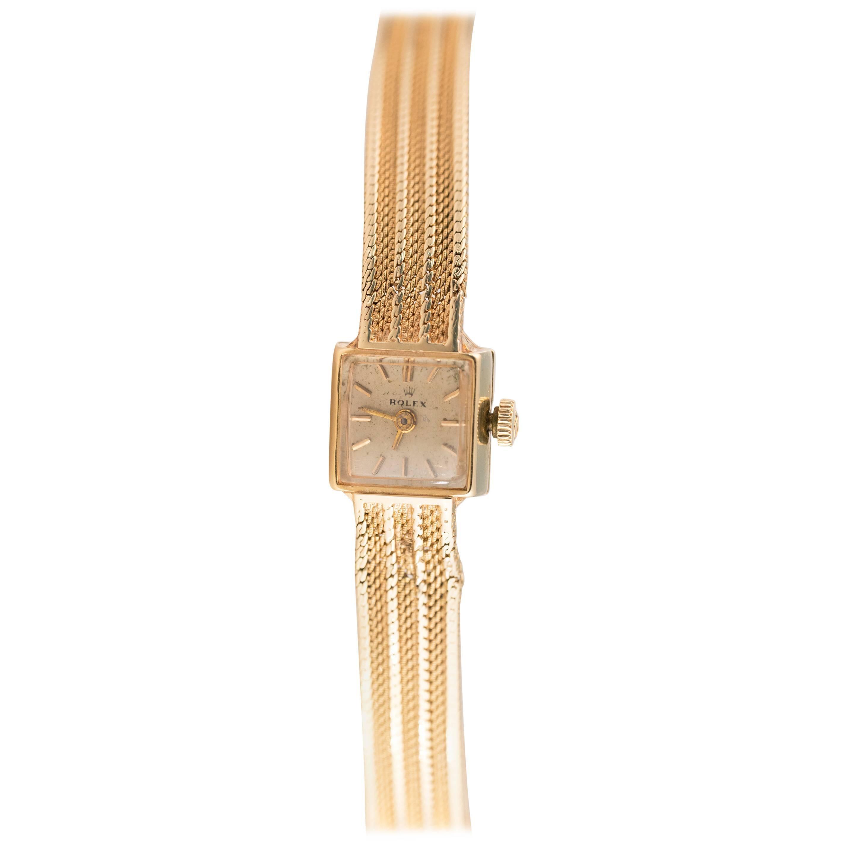 1950s Rolex 14K Yellow Gold Ladies Wrist Watch
