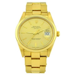 Rolex Yellow Gold Automatic Date Wristwatch Ref 15238, 2002