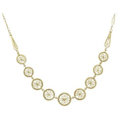 1900s French Yellow Gold Necklace