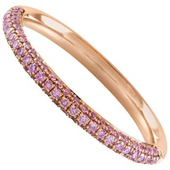 Fancy Pink Diamond in Rose Gold Wedding Band