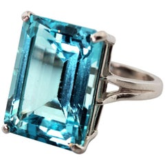 Brilliant Blue Topaz Ring