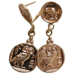 Owl of Athena Drop Earrings