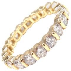 Tiffany & Co. Diamond Eternity Yellow Gold Wedding Band Ring