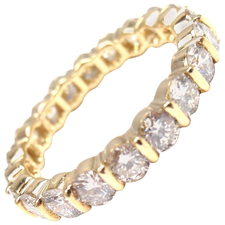 Tiffany & Co. Diamond Eternity Yellow Gold Wedding Band Ring 1