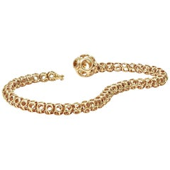 Towe Norlen Corail Contemporary Yellow Gold Laser Sintered Chain Bangle Bracelet