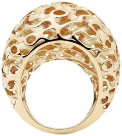Towe Norlen Dune Silk Yellow Gold Bombe Dome Ring