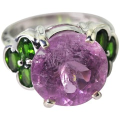Splendid Sparkling Pink Kunzite Ring