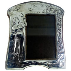 English Sterling Silver Repousse Frame, circa 1895