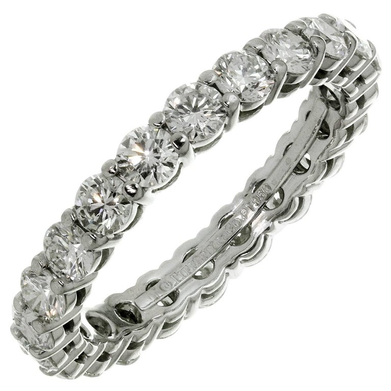 Tiffany And Co Embrace Diamond Platinum Band Ring For