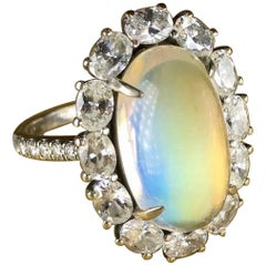 Bella Campbell for Campbellian Collection Statement Rainbow Moonstone Ring