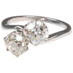 Toi et Moi Diamond Twist Ring 2.24 Carat