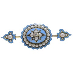 Luise Pearl and Diamond Brooch