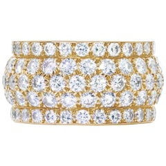 Cartier Five-Row Brilliant Cut Diamond Ring