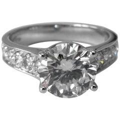 Beautiful GIA Certified 2.30 Carat Diamond Engagement Ring