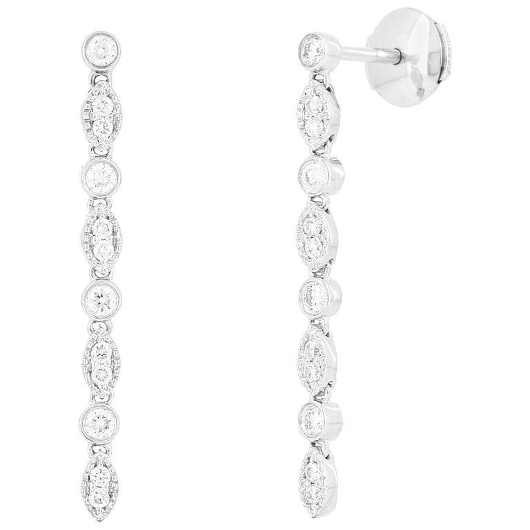 Yvonne Leon Contemporary Diamond Earring For Sale