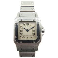 Cartier Ladies Stainless Steel Santos Quartz Wristwatch