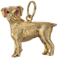 Boxer Dog Charm in 18 Karat Yellow Gold