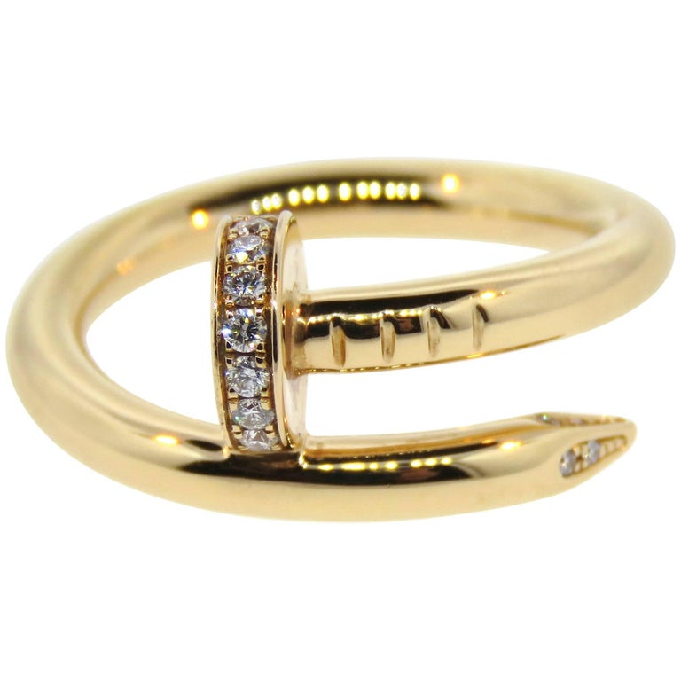 Cartier Diamond Pink Gold Juste Un Clou Nail Ring at 1stdibs
