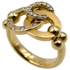 Temple St Clair Gold Diamond Trinity Ring