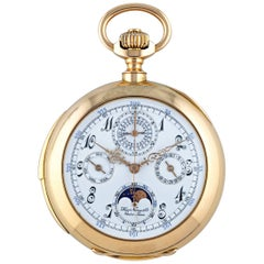 Haas Neveux & Co. Yellow Gold Swiss Grand Complication Pocket Watch