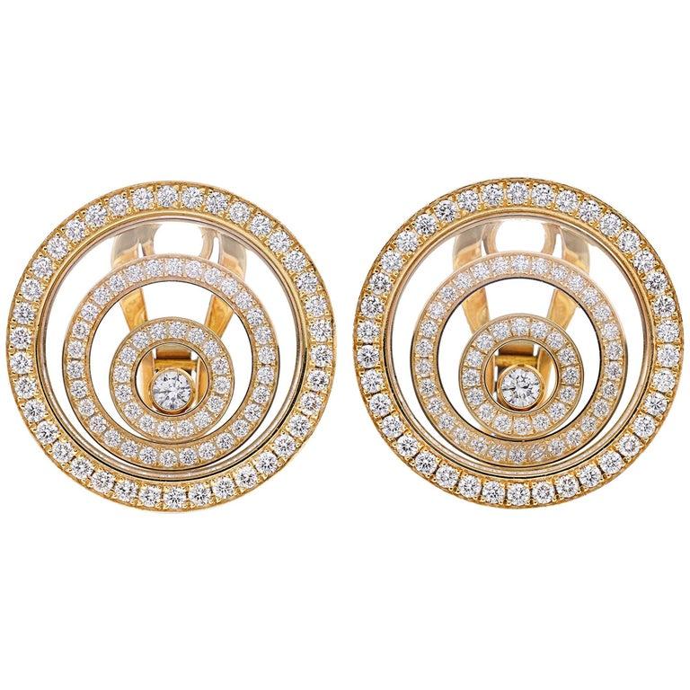 Chopard Happy Spirit Diamond Earrings 1