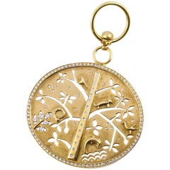 Temple St Clair Pave Diamond Gold Large Tree of Life Pendant