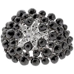 Charade Black Diamond Cocktail Star Ring