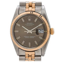 Rolex Rose Gold Stainless Steel Datejust Self-Winding Wristwatch, circa 1969