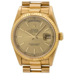 Rolex Yellow Gold Day Date President Double Quick Wristwatch, circa 1993