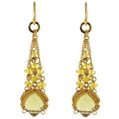 Anthony Nak Citrine and Diamond Earrings