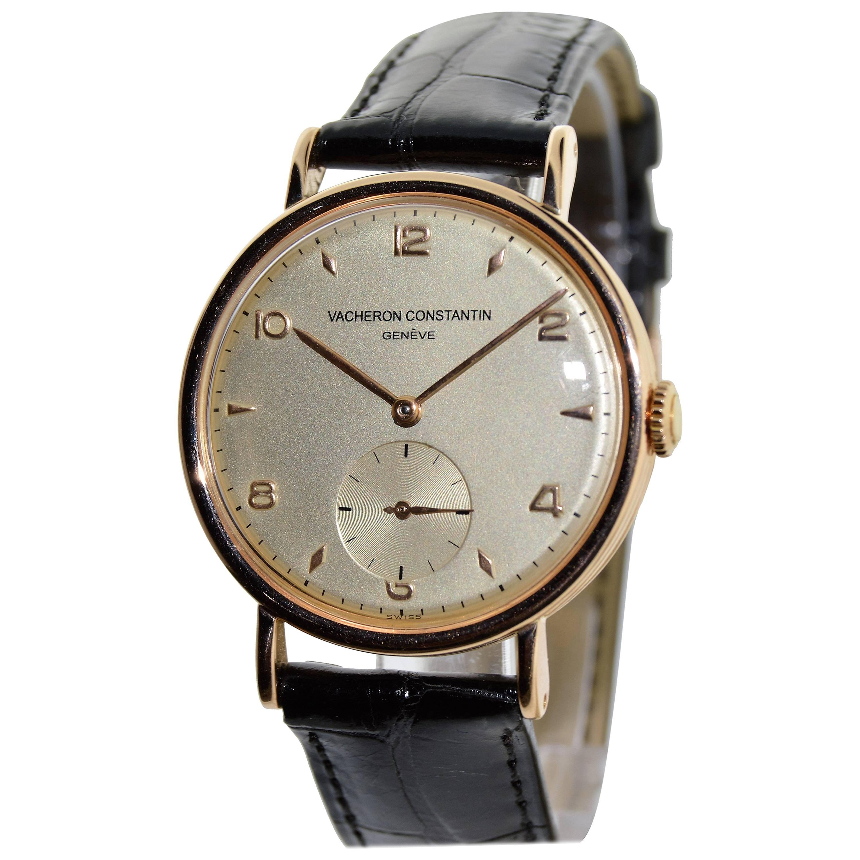 Vacheron Constantin Rose Gold Dress Wristwatch For Sale at 1stdibs