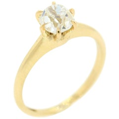 Antique Old Mine Cut Diamond Gold Ring
