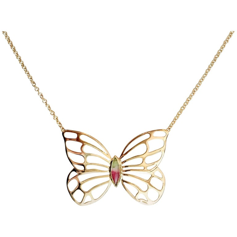 Julius Cohen Butterfly Necklace