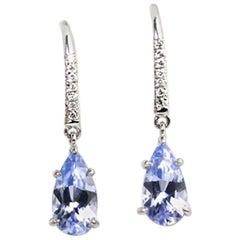 Julius Cohen Lavender Spinel and Diamond Earrings