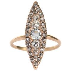 .50 Carat Aquamarine and Diamond Yellow Gold Engagement Ring