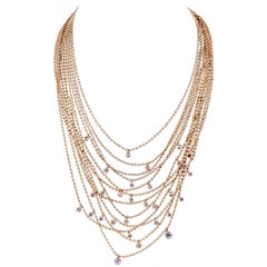 Draping Gold and Diamond Necklace