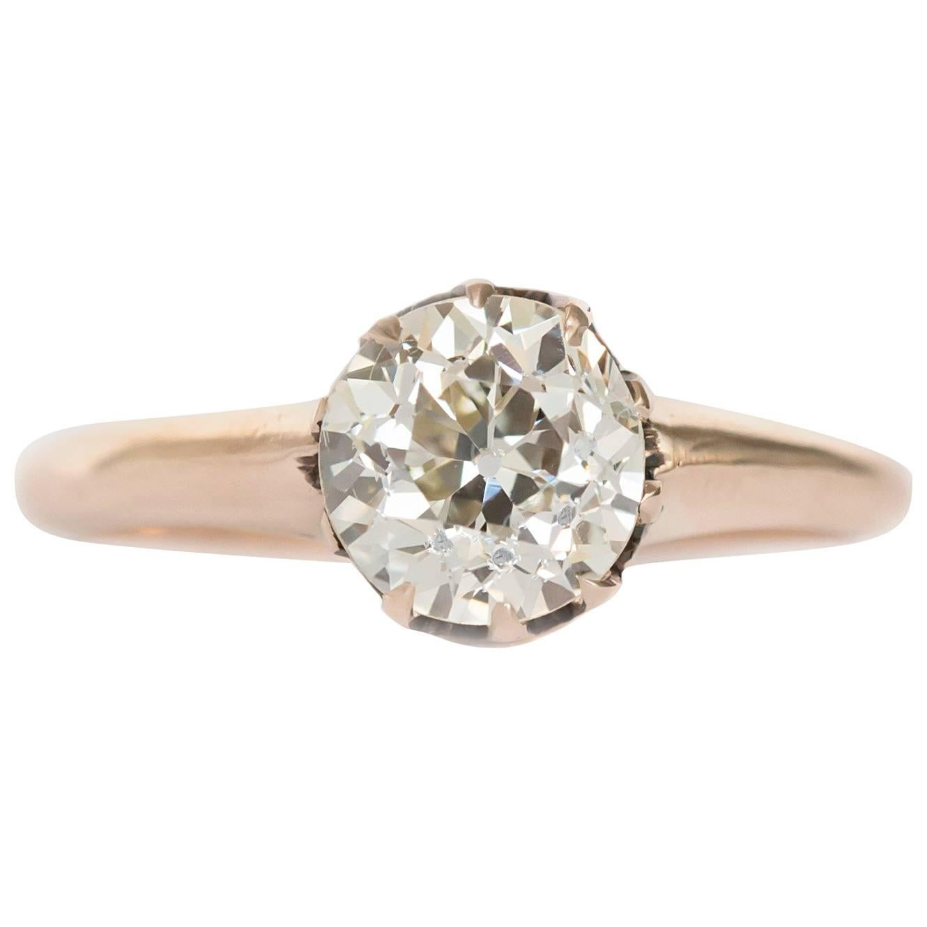 1.12 Carat Diamond Yellow Gold Engagement Ring