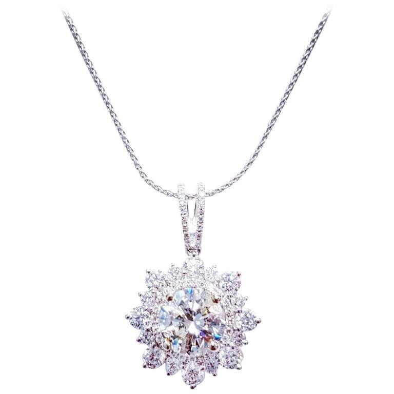 Large 4.61 Carat Diamond Pendant