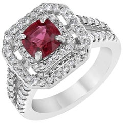 2.21 Carat Spinel Diamond White Gold Ring