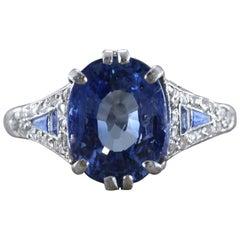 Mauboussin Sapphire Diamond Platinum Ring
