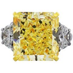 Shreve, Crump & Low 20.24 ct Fancy Intense Diamond GIA Certified Engagement Ring
