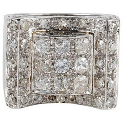 Art Deco 1.50 Carat Diamond Buckle Ring