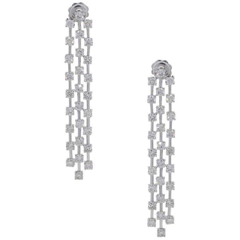 4.42 Carat Diamond Dangle Earrings